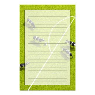Korna som leker fotboll brevpapper