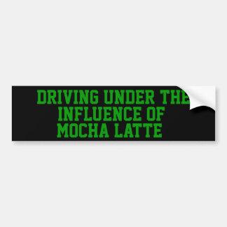 Körning under påverkan av mockan Latte Bildekal