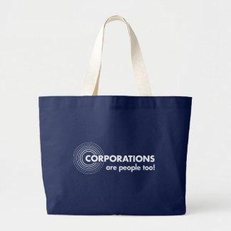 Korporationer är folk för! jumbo tygkasse