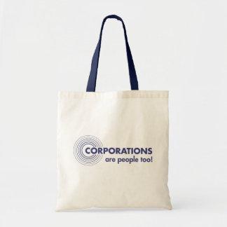 Korporationer är folk för! tygkasse
