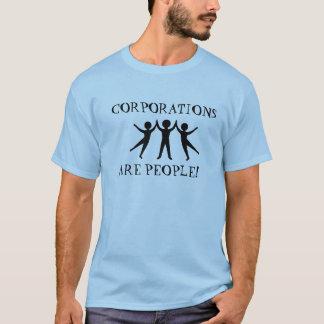 Korporationer är folk T-tröja Tshirts