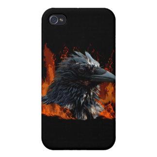 Korpsvart flammar iphone case iPhone 4 fodraler