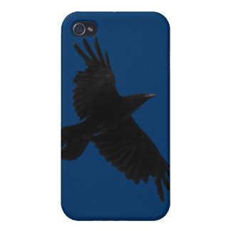 Korpsvart Korpsvart-Älskare för kråkadjurlivfågel iPhone 4 Hud