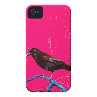 Korpsvart kråka för shock rosa iPhone 4 Case-Mate fodral