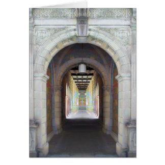 Korridor av pelare hälsningskort