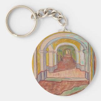 Korridor i det St Paul sjukhuset Vincent Van Gogh Rund Nyckelring