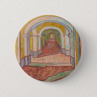 Korridor i det St Paul sjukhuset Vincent Van Gogh Standard Knapp Rund 5.7 Cm