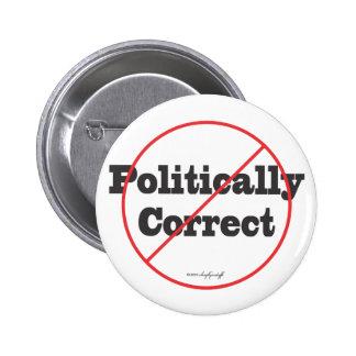 Korrigera politiskt inte standard knapp rund 5.7 cm