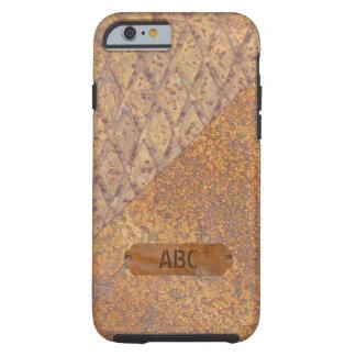 Korrugerad och rostad metall tough iPhone 6 fodral