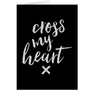 Korsa min hjärta - inspirera hälsningkort hälsningskort