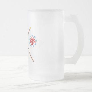 Korsad Belgien & tysk - den talande gemenskapen Frostat Ölglas