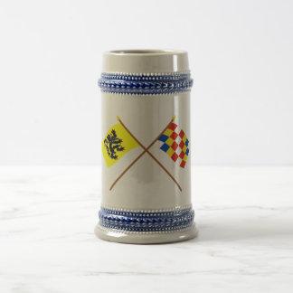 Korsad Flanders och Antwerp flaggor Sejdel