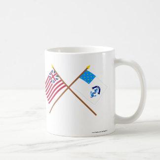Korsad storslagen union och 2nd Rhode - öRegiment Kaffemugg