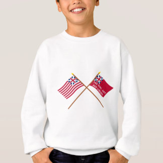 Korsad storslagen union och New York frihetflaggor Tee Shirt