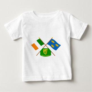 Korsade Irland och Munster ProvinceFlags w Erin Tee Shirts