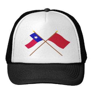 Korsade Texas och Alabama röd Roversflaggor Keps