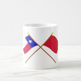 Korsade Texas och Alabama röd Roversflaggor Vit Mugg