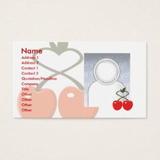 Körsbär - affär visitkort
