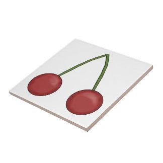 Körsbär belägger med tegel kakelplatta