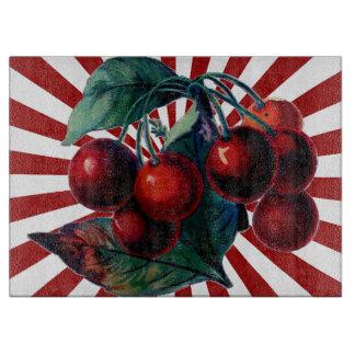 Körsbär på röd bristning av strålar