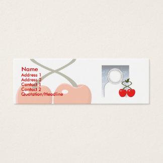 Körsbär - smala litet visitkort