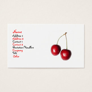 Körsbär Visitkort
