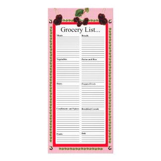 Körsbärdesignlivsmedel listar reklamkort