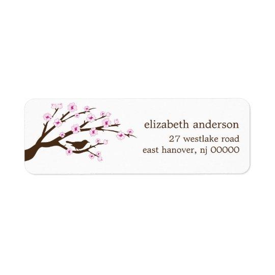 Körsbäret blomstrar adressetiketter