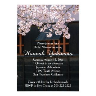 Körsbäret blomstrar blommainbjudningskort för 12,7 x 17,8 cm inbjudningskort