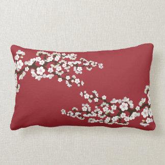 Körsbäret blomstrar (den röda) Sakura dekorativ ku Prydnadskudde