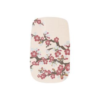 Körsbäret blomstrar den röda Sakura slynan), Nagel Art