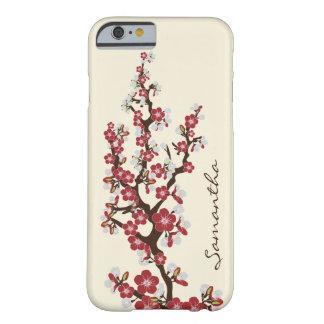Körsbäret blomstrar (det röda) fodral för iPhone Barely There iPhone 6 Fodral