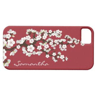 Körsbäret blomstrar (det röda) Fodral-Kompisen för iPhone 5 Case-Mate Cases