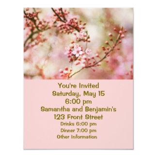 Körsbäret blomstrar fotoet 10,8 x 14 cm inbjudningskort