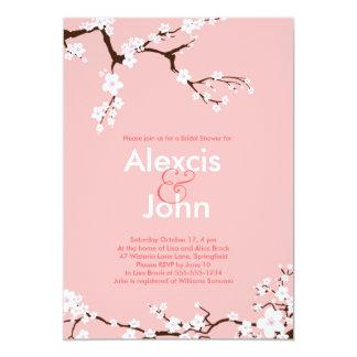 Körsbäret blomstrar möhippan 12,7 x 17,8 cm inbjudningskort