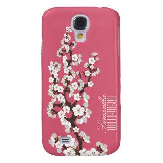 Körsbärsröd blommar 3 (rosa rosor) galaxy s4 fodral