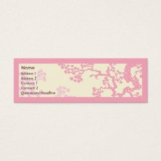 Körsbärsröd blommar - smala litet visitkort