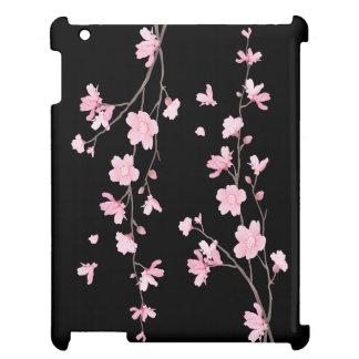 Körsbärsröd blommar - svart iPad skal