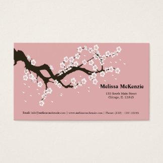 Körsbärsröd blommar visitkort
