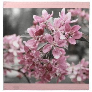 Körsbärsröd blommaramerikanMoJo servett