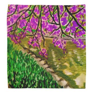 Körsbärsröd blommarImpressionismkonst på Bandana