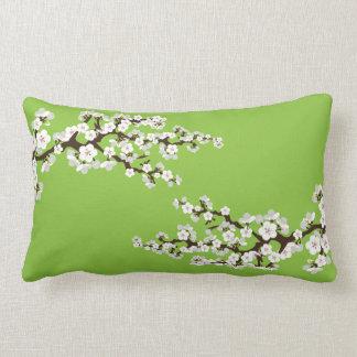 Körsbärsröd blommarSakura dekorativ kudde (limefru