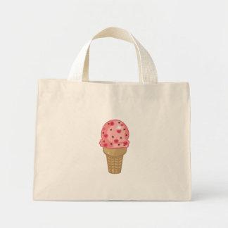 Körsbärsröd chokladchip mini tygkasse