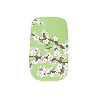 Körsbärsröd grönt för limefrukt för blommarSakura Nail Stickers