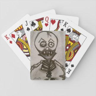 Körsbärsröd läppar, spenslig höftkortuppsättning spelkort