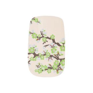 Körsbärsröd limefrukt för blommarSakura slyna) Klistermärken För Naglar