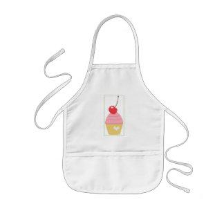Körsbärsröd muffin barnförkläde