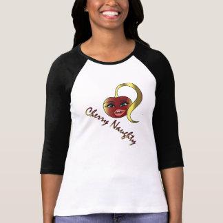 Körsbärsröd stygg original- designlogotypskjorta t shirt