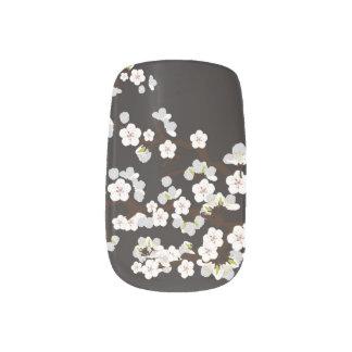 Körsbärsröd svart för blommarSakura slyna) Nagelkonst