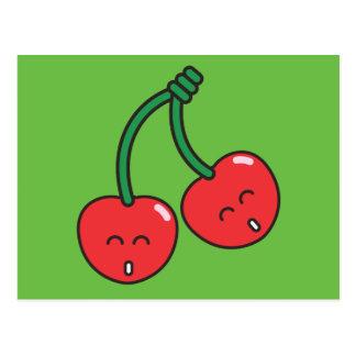 Körsbärsröd twillingar vykort